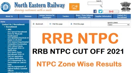 RRB NTPC ZONE WISE RESULTS